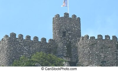 Medieval European Castle Walls And Tower