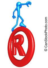 Balancing On Registered Mark Symbol