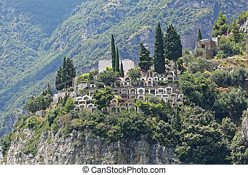 Positano Cemetery - Cemetery at Cliff in Picturesque Village...