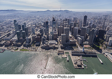 San Francisco Downtown Waterfront Aerial