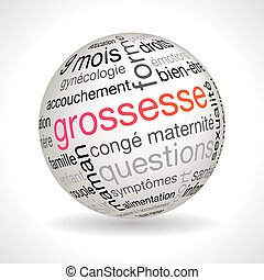 French pregnancy theme sphere