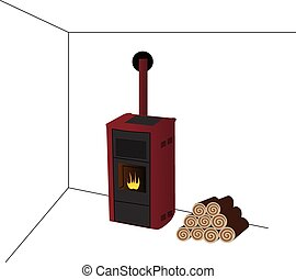 fireplaces, with woods, tools and accessories