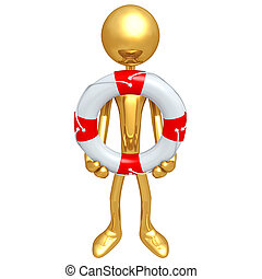 Gold Guy Life Preserver Concept