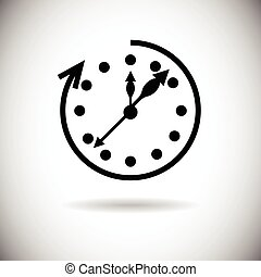Clock Time Black Web Icon Illustration