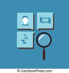 Magnifying Glass Search Information Online Internet Technology