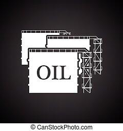 Oil tank storage icon