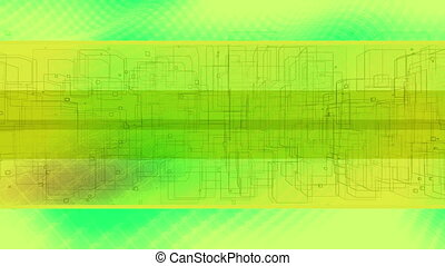 Squared abstract CG loop - Animated background squared...