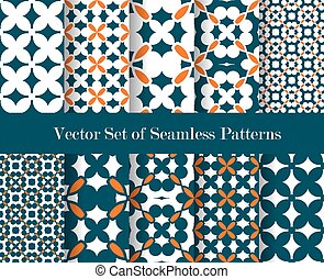 make seamless wallpape - floral abstract patterns collection...