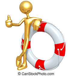 Gold Guy With Life Preserver - Concept And Presentation...