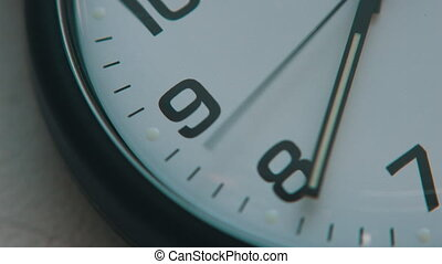 Clock, second hands moving - Macro shot of watch, second...