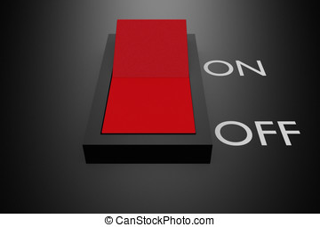 switch off in red