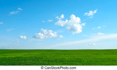 Countryside natural background - Timelapse. Countryside...