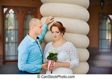 Beautiful bride and groom. Just merried. - wedding copule....