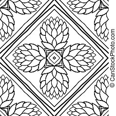 Pattern with cones. - Seamless background with cones. Vector...