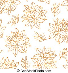 Pattern with flowers.