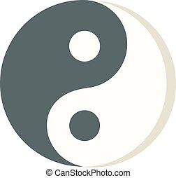 Yin Yang icon isolated vector. - Yin yang icon isolated on...