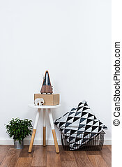 simple decor objects, minimalist white interior -...