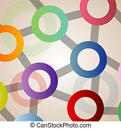Background with circles in all colors