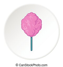 Cotton candy icon, cartoon style - Cotton candy icon in...