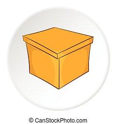 Square box icon, cartoon style - Square box icon in cartoon...