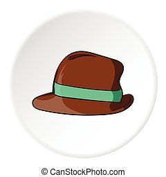 Mens hat icon, cartoon style - Mens hat icon in cartoon...