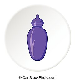 Urn for ashes icon, cartoon style - Urn for ashes icon in...