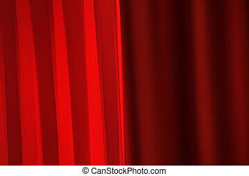 Red curtains for award ceremony background