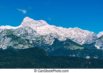 Triglav mountain peak, Slovenia - Triglav mountain peak in...