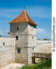 Brasov fortification tower, Transylvania, Romania, dating...