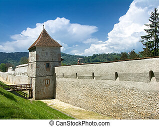 Brasov fortification tower, Transylvania, Romania, dating...