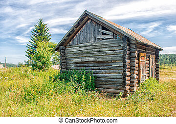 old abandoned wooden house