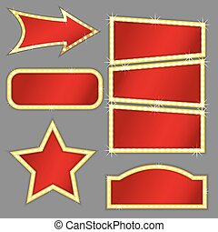 retro banners set - Set of retro banners different forms...