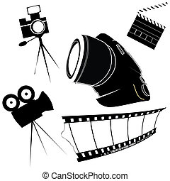 Stylized photo icons - Photography and film making related...
