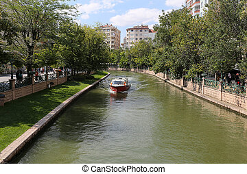Porsuk River in Eskisehir - Boat tour in Porsuk river in...
