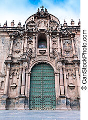 Cathedral of Santo Domingo on Nov. 9 2015 in Cusco Peru...