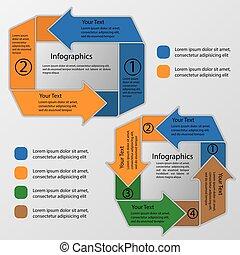 circular arrows infographics