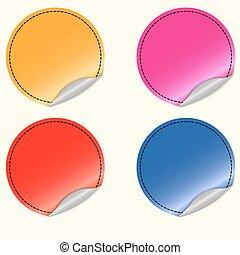 Blank round stickers