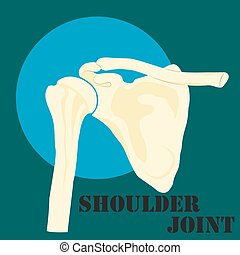 Human shoulder joint, medicine, clinic symbol design, spine...