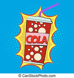 Paper cup for cola