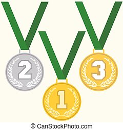 Set of signs medal