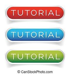 Tutorial button vector set