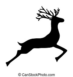 Reindeer isolated on white background, - Reindeer isolated...