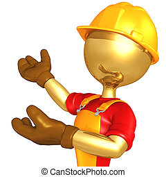 Construction Worker - A Concept And Presentation Figure In...