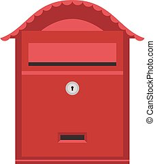 Post mail box vector isolated - Beautiful rural curbside...