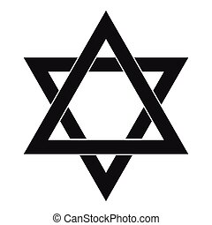 Star of David icon, simple style - Star of David icon in...