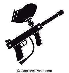 Paintball gun clipart
