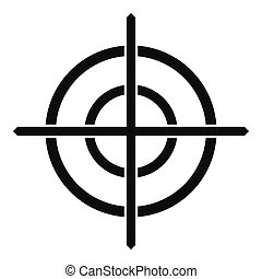 Target crosshair icon, simple style - Target crosshair icon...