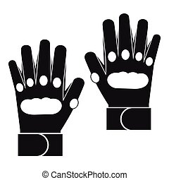 Pair of paintball gloves icon, simple style - icon in simple...