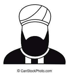 Muslim preacher icon, simple style - Muslim preacher icon in...