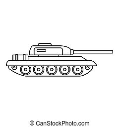 Tank icon, outline style